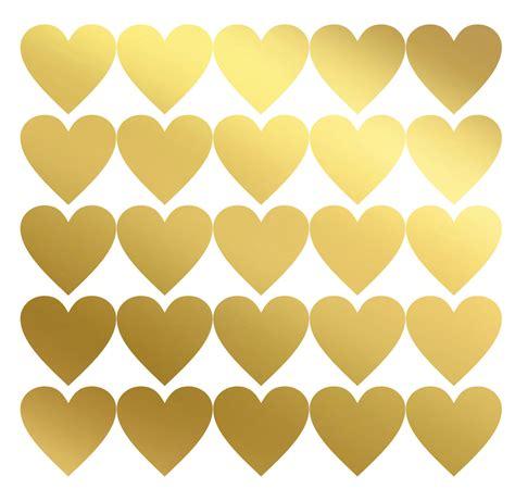 Herz Aufkleber by 50 Kreative Herzsticker Gold Metallic