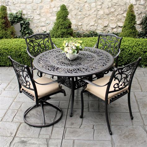 Cast Iron Patio Table Awesome Cast Iron Patio Set Table Chairs Garden Furniture Make Ideas Home