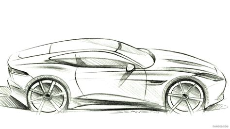 Auto Sketch by Initial Hi Res F Type Sketches Jaguar Forums Jaguar