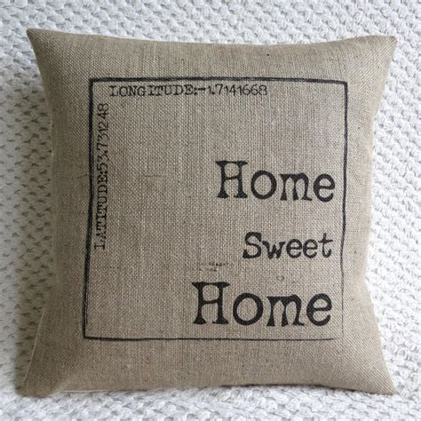sweet home best pillow personalized home sweet home burlap best burlap pillows