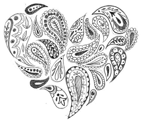 whimsical designs coloring pages whimsical heart clip art paisley heart clip art