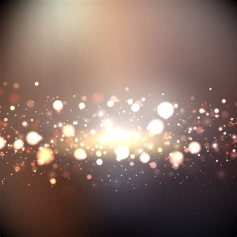 bokeh lights bokeh background with golden lights vector free