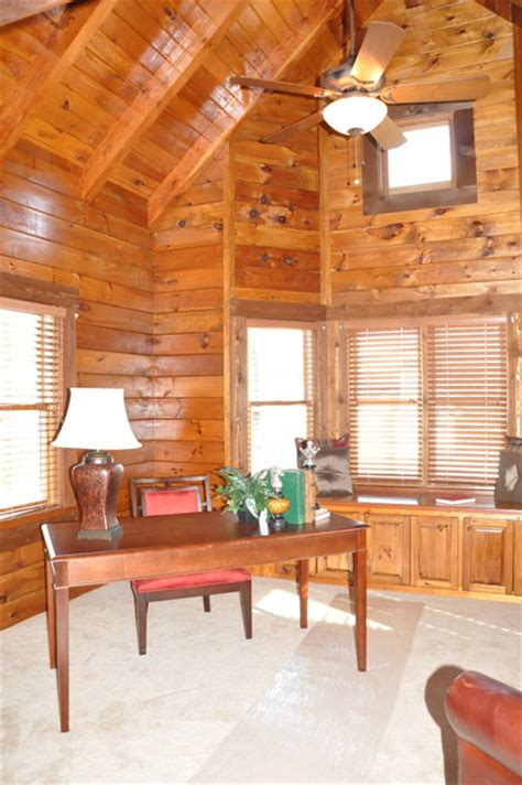 log cabin renovation 2012 rustic home office