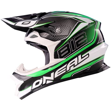 green motocross helmet oneal 812 graphic mx lightweight fiberglass 8 series