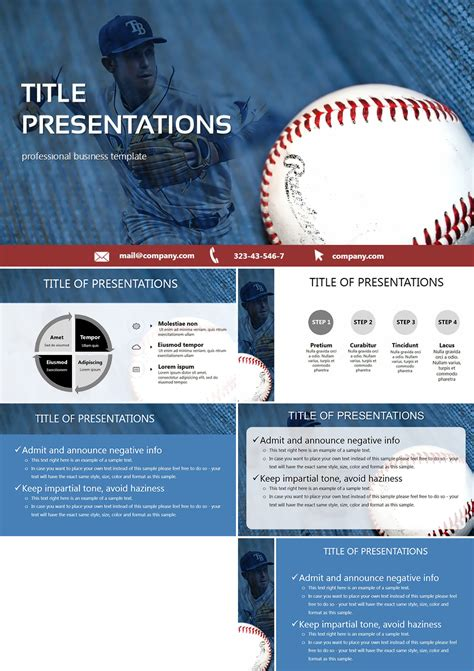 Baseball Card Template Powerpoint by Baseball Card Powerpoint Templates Imaginelayout