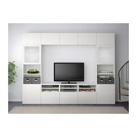 ikea besta tv combination best 197 tv storage combination glass doors white selsviken high gloss white frosted