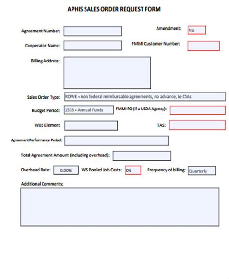 sales inquiry form template sle sales order form 11 exles in word pdf