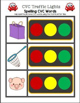 light cvc cvc traffic lights spelling cvc words transportation