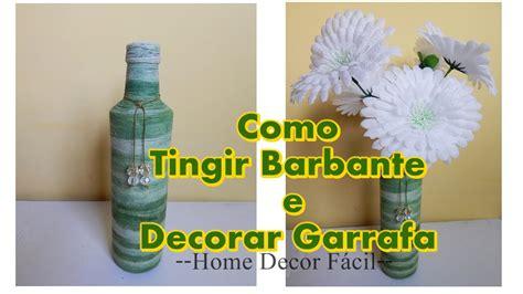 garrafas decoradas home como colorir barbante para fazer garrafa decorada home