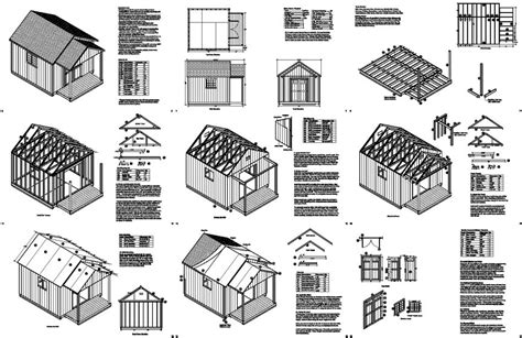 16x16 Shed Plans Free by 16 X 16 Shed Plans Free Storage Shed Designs 5 Features