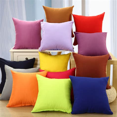 what color pillows for red couch aliexpress com buy hot sale polyester solid color plain