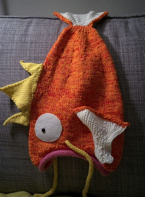 fish knitting pattern free free knitting pattern for magikarp go hat magikarp go
