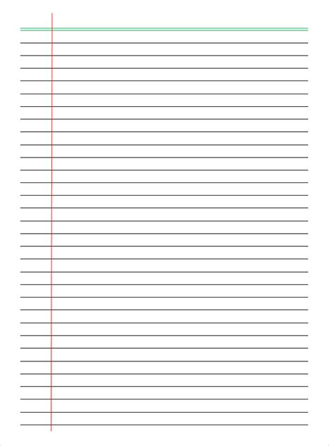 printable lined paper college ruled