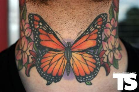 butterfly tattoo throat monarch butterfly throat tattoo by fish tattoos pinterest