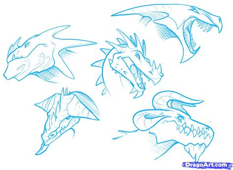 how to draw doodle sketch how to draw heads step by step dragons draw a
