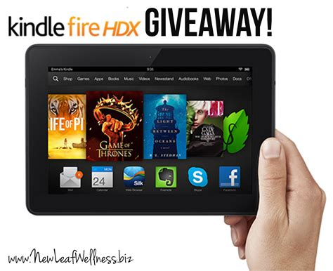 Kindle Giveaway - healthy living ebook bundle and kindle fire giveaway new leaf wellness