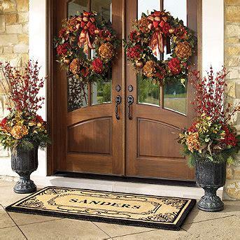 front door fall wreaths    hang  wreaths