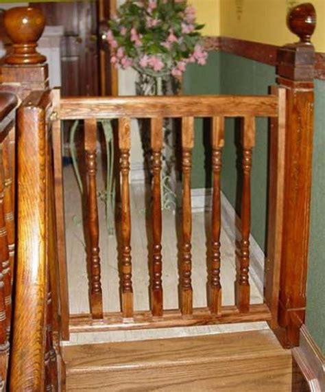 wooden baby gates for stairs with banisters diy wooden baby gates stairs
