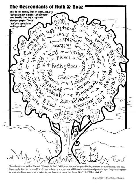 printable family tree of jesus family tree ruth and boaz bible ruth pinterest