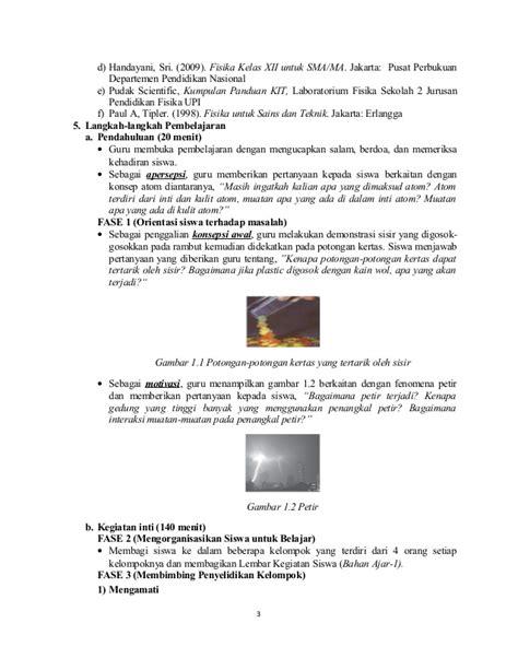 Sisir Tembaga 5 sma kelas xii rpp kd 3 3 4 3 listrik statis karlina