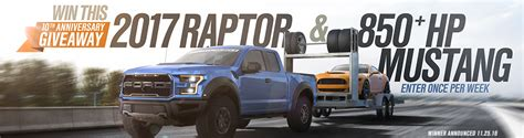 Ford Raptor And Mustang Giveaway - americanmuscle com sweepstakes build your f 150 5 000