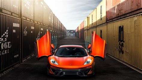 orange mclaren wallpaper full hd wallpaper mclaren orange gull wing door desktop