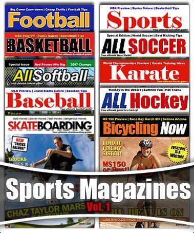 sports magazine template photoshop sports magazine cover templates