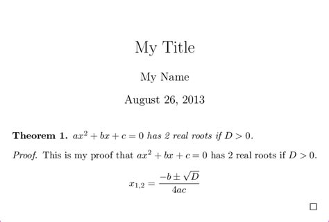 latex tutorial getting started math mode how to get started to typeset mathematical