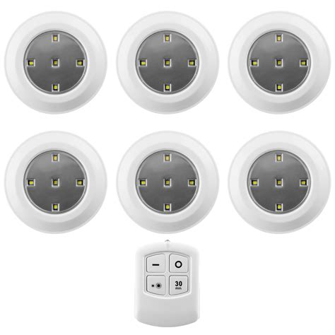 wireless puck lights with remote 6 pack liger led wireless puck lights with remote control