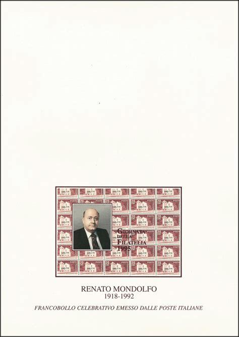 Offizieller Brief Frankreich Italien 2415 Tag Der Briefmarke Renato Mondolfo Offizieller Folder Fdc 183 Philmaster