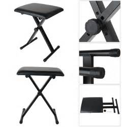 bench height chair new piano stool keyboard bench black padded seat cushion