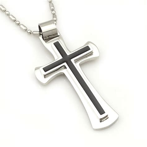 gift free shipping 316l stainless steel cross