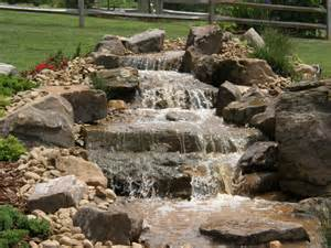 aquascape pondless waterfall disappearing pondless waterfall landscape ideas