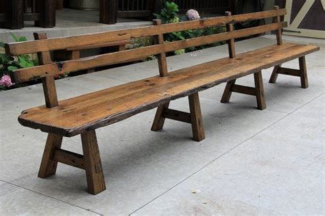 rustic bench with back 25 best ideas about wooden benches on pinterest wooden
