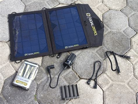 goal zero solar charger review gear review goal zero guide 10 solar charger o a r s