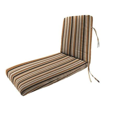 home decorators outdoor cushions home decorators collection sunbrella espresso stripe outdoor chaise lounge cushion 2249910880