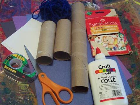 crafts to make with paper towel rolls crafts with construction paper