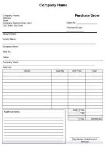 Purchase Order Pdf Template by Purchase Order Template 43 Free Word Excel Pdf