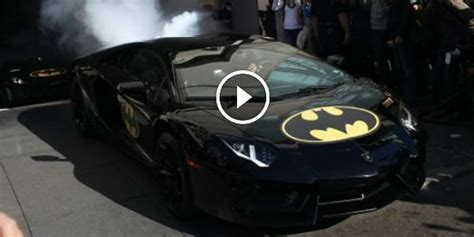 Batman Lamborghini Appearance Of Batman S Lamborghini Batmobile Batkid