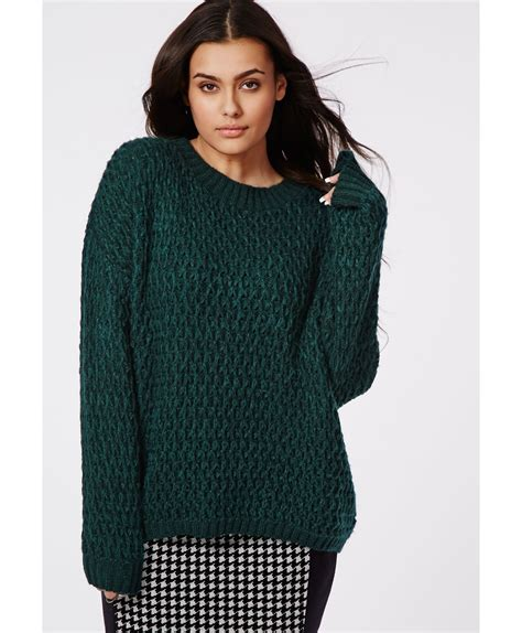 plus size knit sweater missguided plus size chunky knit sweater forrest green in