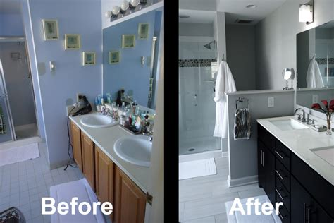 before and after master bathroom remodels a e bathroom remodel shower installation princeton