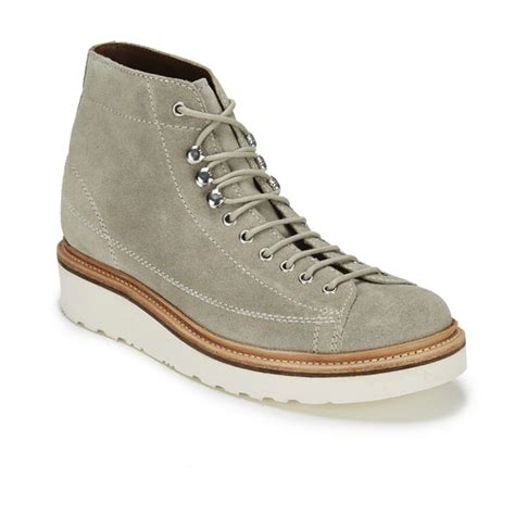free monkey boots grenson men s andy suede lace up monkey boots sand