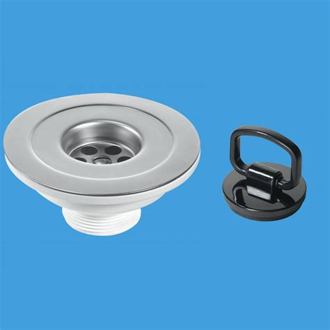 kitchen sink outlet mcalpine bsw45p 1 1 2 x 113mm flange sink waste outlet