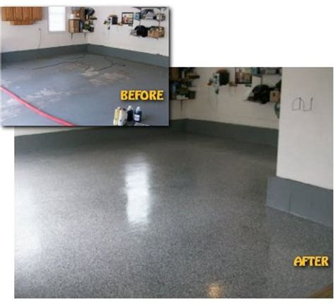 Garage Floor Paint Before And After Jet Electro Finishing Decorative Epoxy Flooring Garage