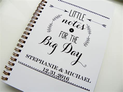 Wedding Planner Notebook by Wedding Notebook Notes For The Big Day Wedding Planning