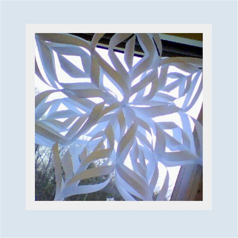 Make Your Own Paper Snowflake - calm energy make some snow of your own
