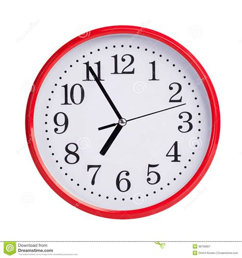 Abstract Clocks by Five To Seven On A Round Clock Face Royalty Free Stock