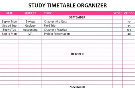 study plan template study timetable the study planner for success learn how