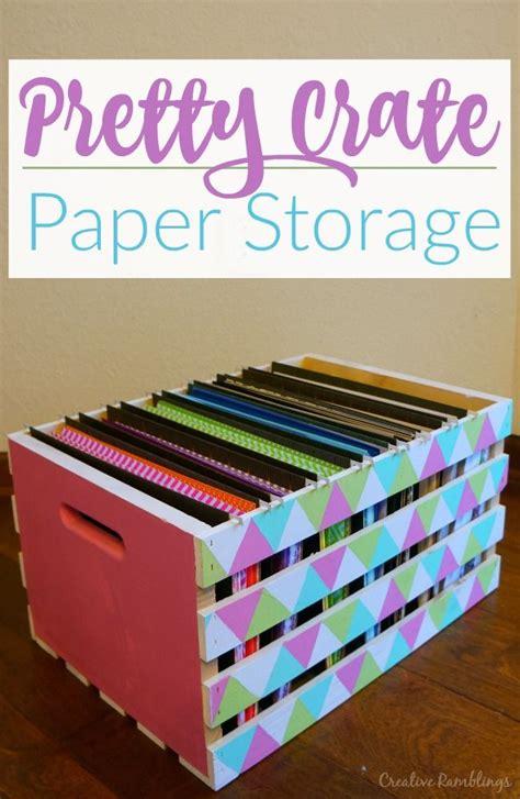 Craft Paper Storage Ideas - best 25 scrapbook paper storage ideas on