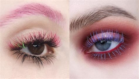 colored extensions colored eyelash extensions popsugar